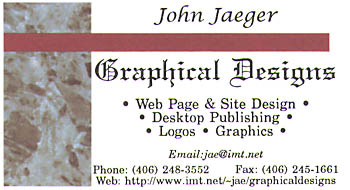 Graphical Designs Business card
