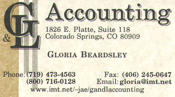 G&L Accounting Business Card